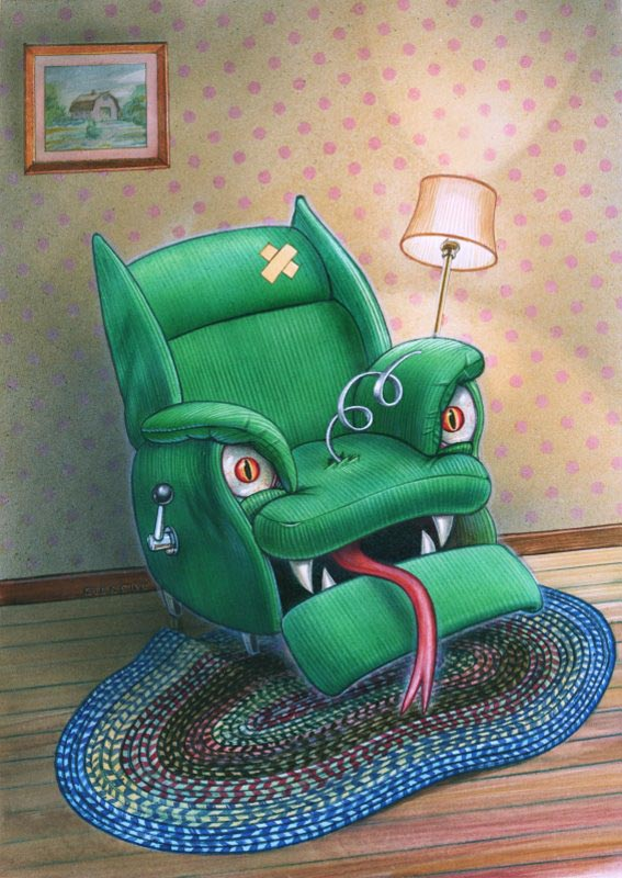 """Angry Boy Recliner""  Illustration"