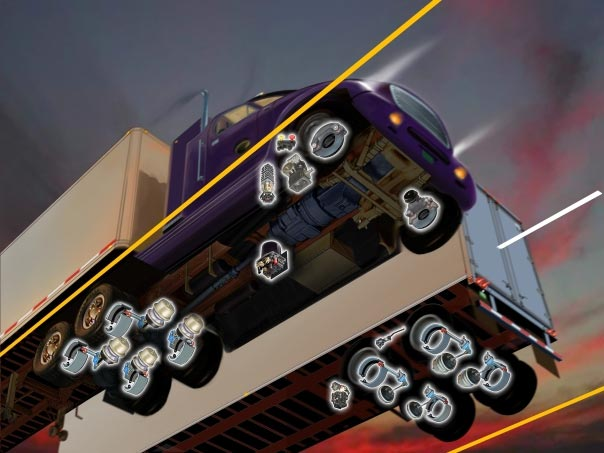 Illustration for truck brakes